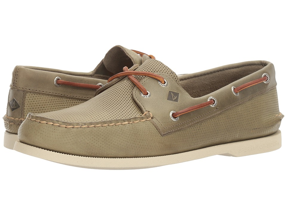 Sperry Top-Sider A/O 2-Eye Perfed (Green) Men