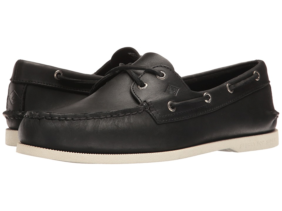 Sperry - A/O 2-Eye (Black) Mens Lace up casual Shoes