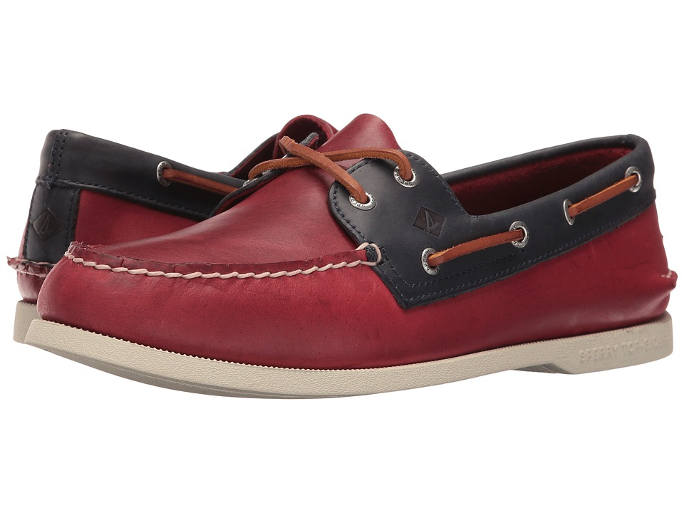 Sperry Top-Sider A/O 2-Eye Sarape (Red/Navy) Men