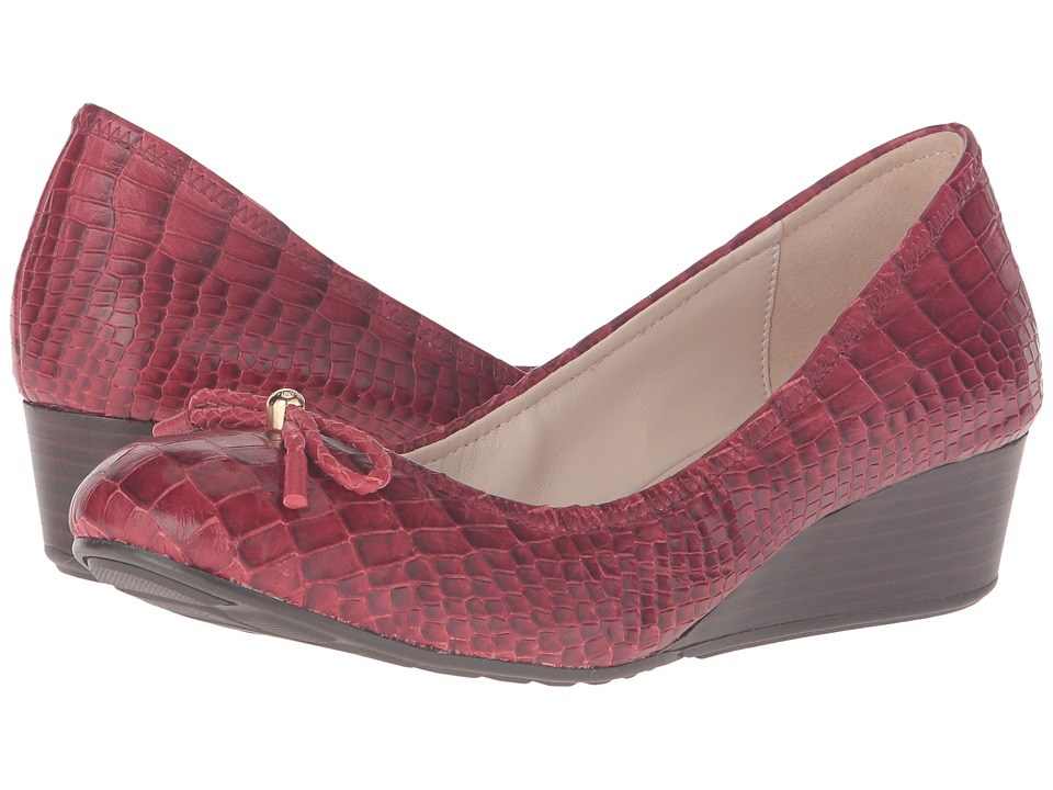 Cole Haan - Tali Grand Lace Wedge 40 (Tango Red Croc Print) Women