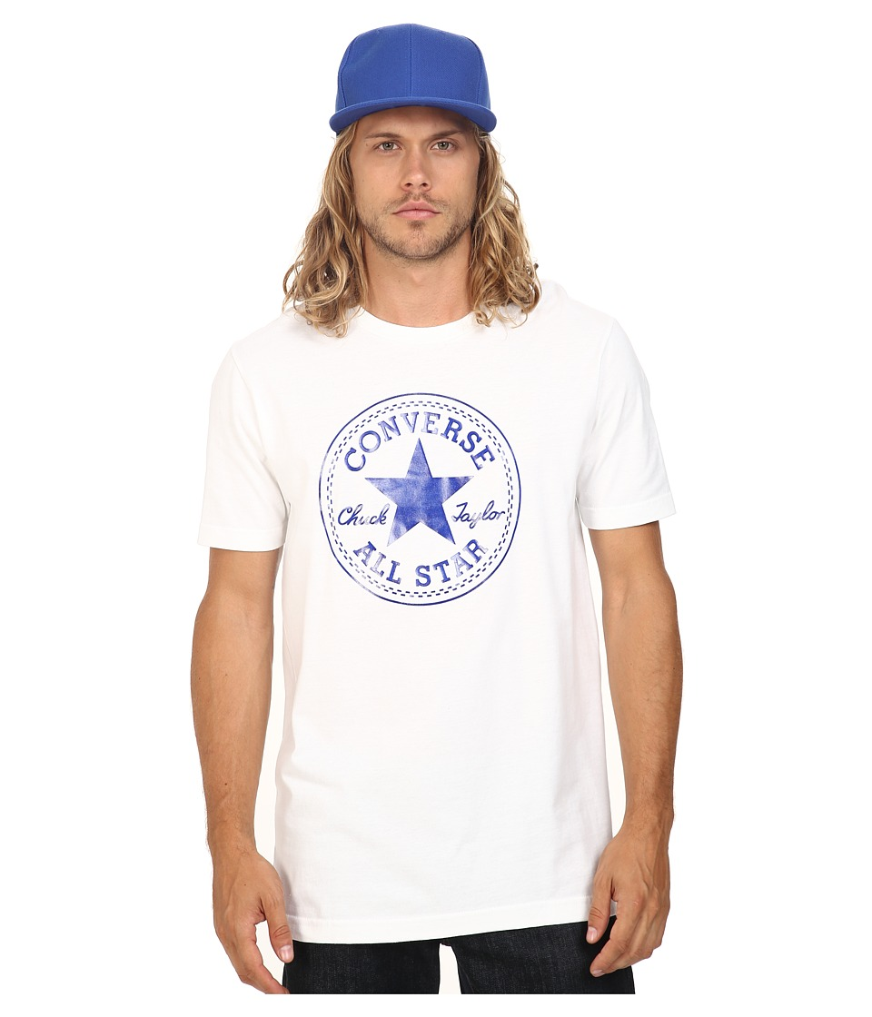 Converse - At Once Patent Core Patch Tee (Blue/White) Men