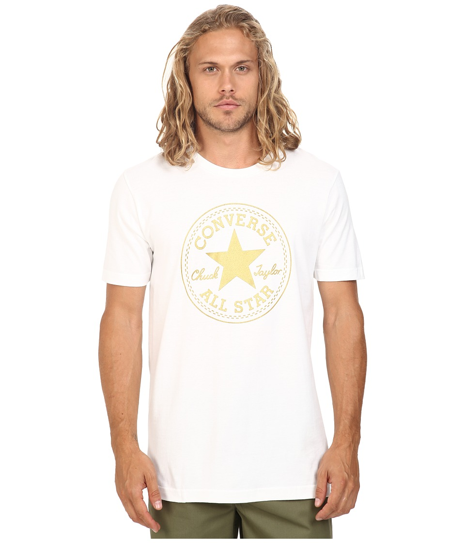 Converse - At Once Metallic Core Patch Tee (White) Men