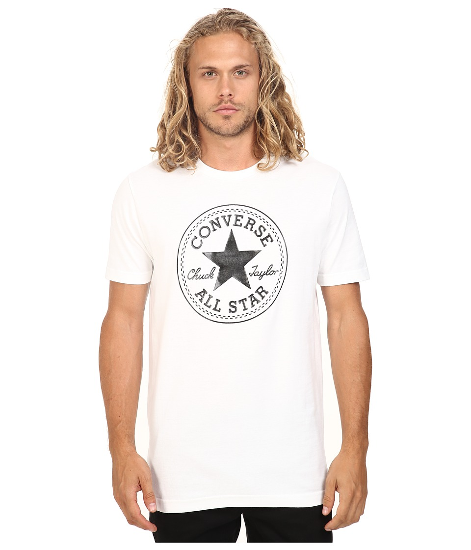 Converse - At Once Patent Core Patch Tee (Black/White) Men