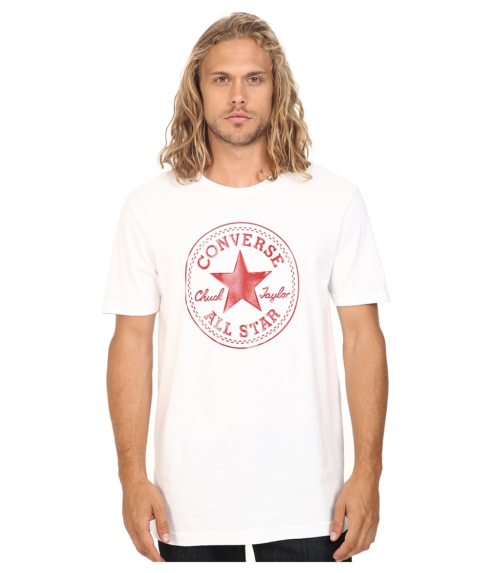 Converse - At Once Patent Core Patch Tee (Red/White) Men
