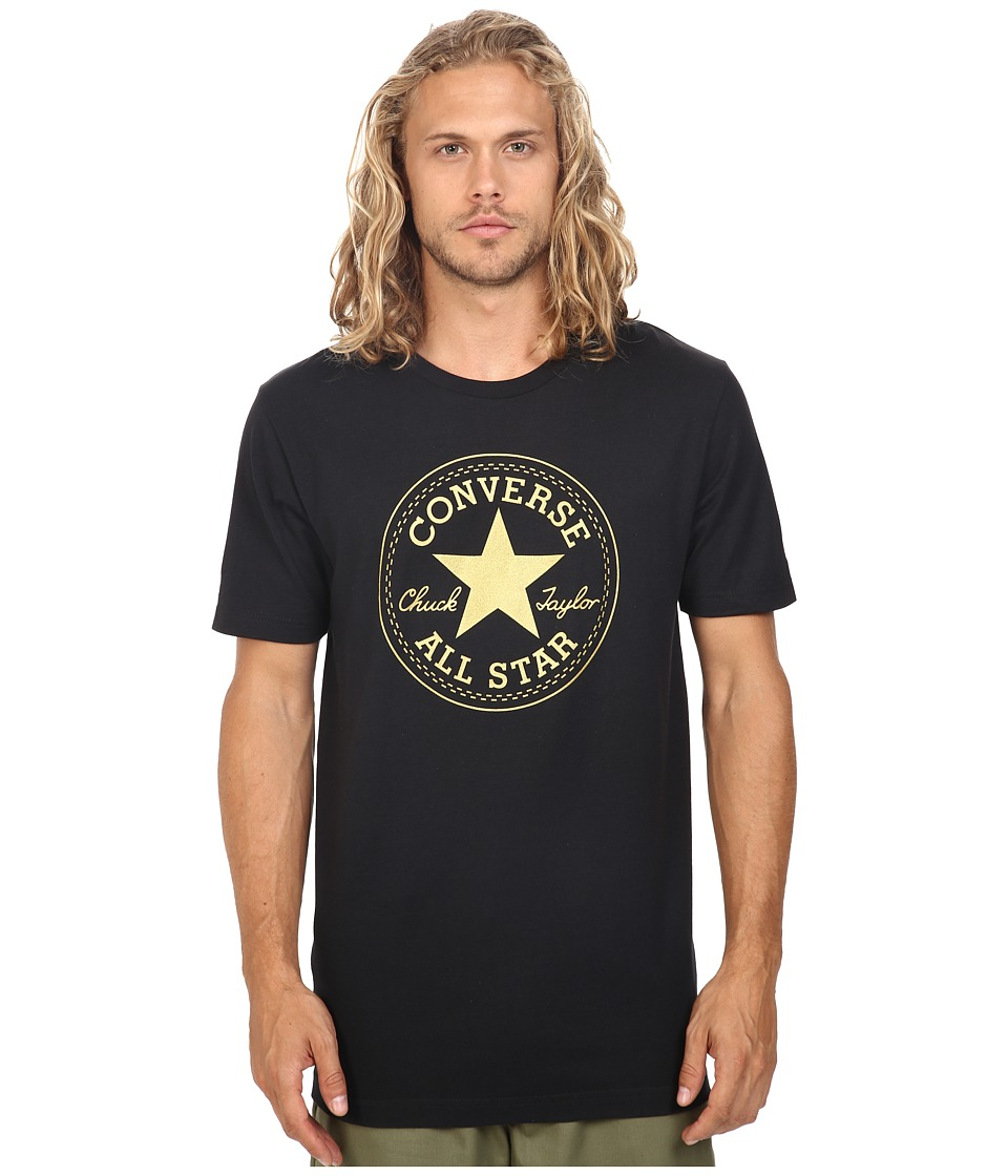 Converse At Once Metallic Core Patch Tee (Black) Men