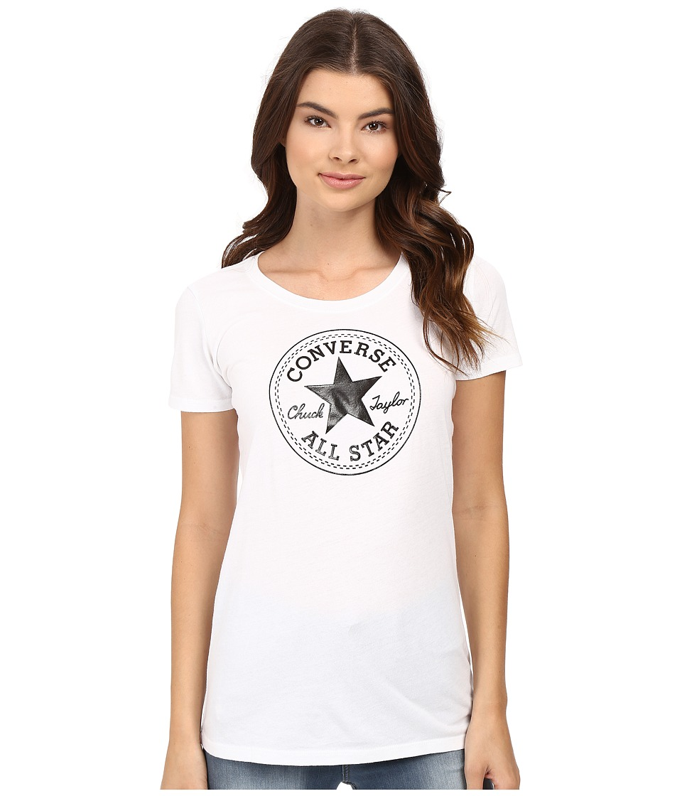 Converse - At Once Patent Core Patch Tee (Black) Women