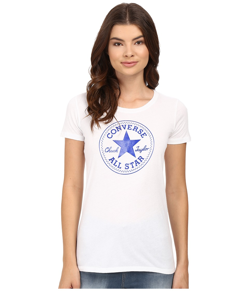 Converse - At Once Patent Core Patch Tee (Blue) Women