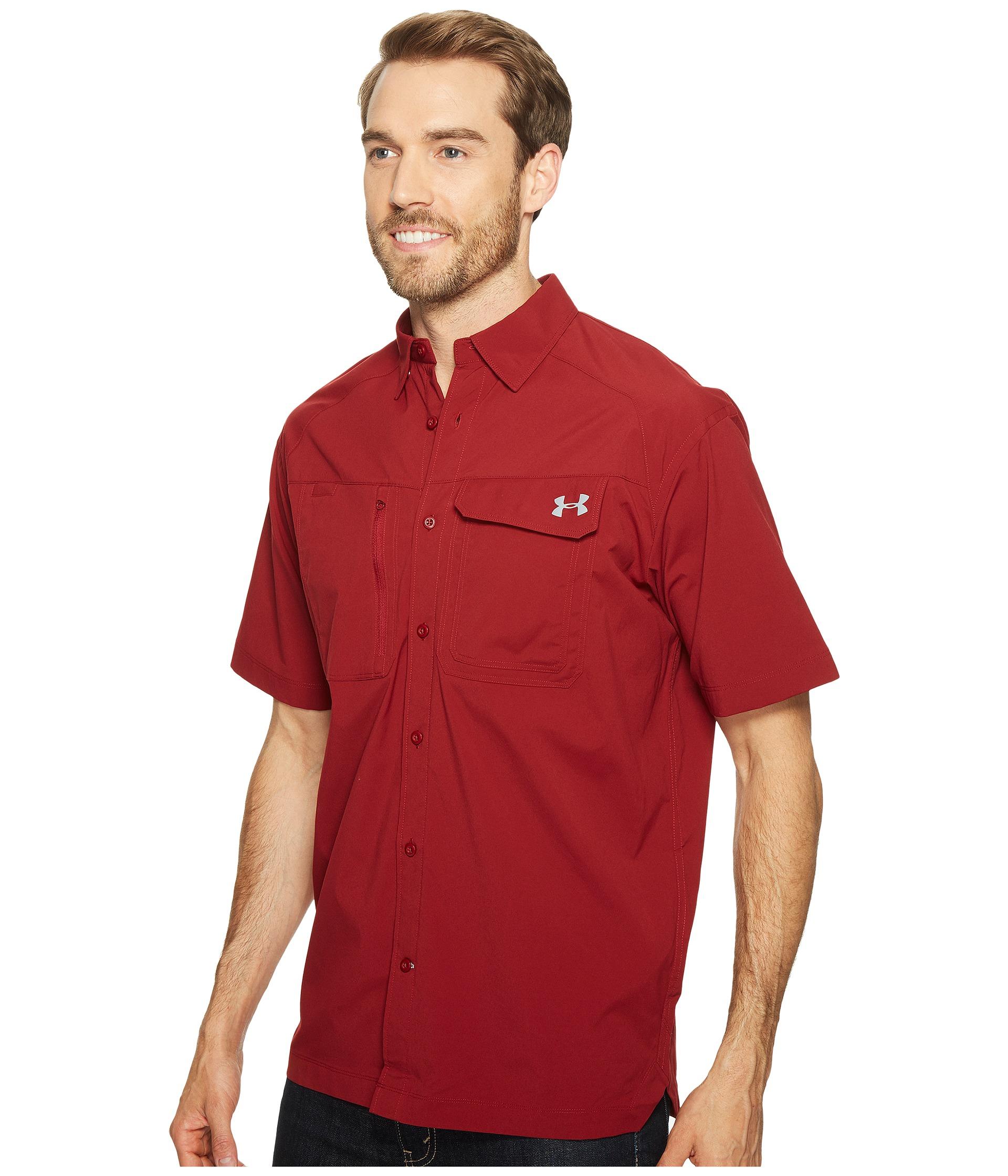 Under armour ua fish hunter short sleeve solid shirt at for Under armour men s ua fish hunter short sleeve shirt