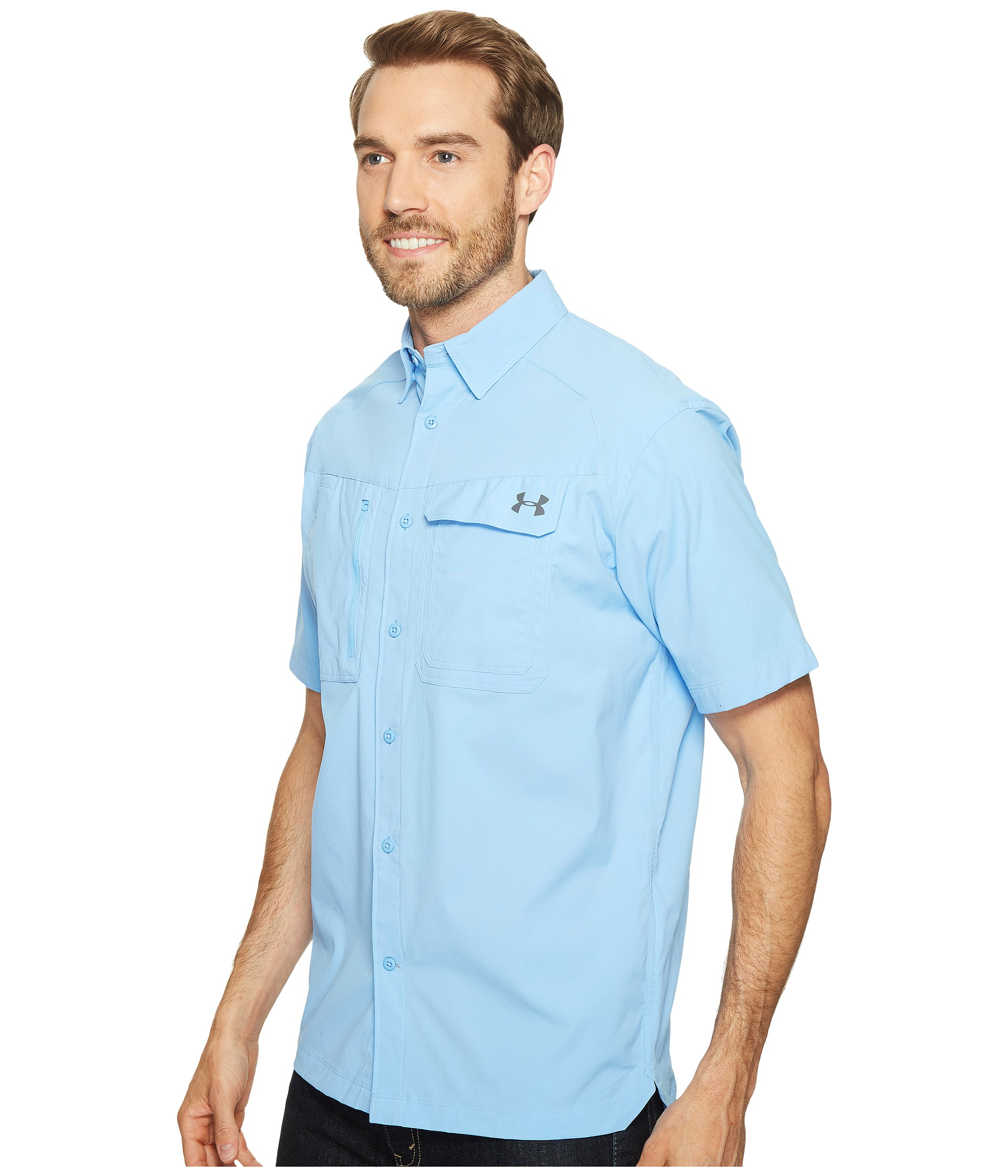 Under armour ua fish hunter short sleeve solid shirt at for Under armour fish hunter shirt