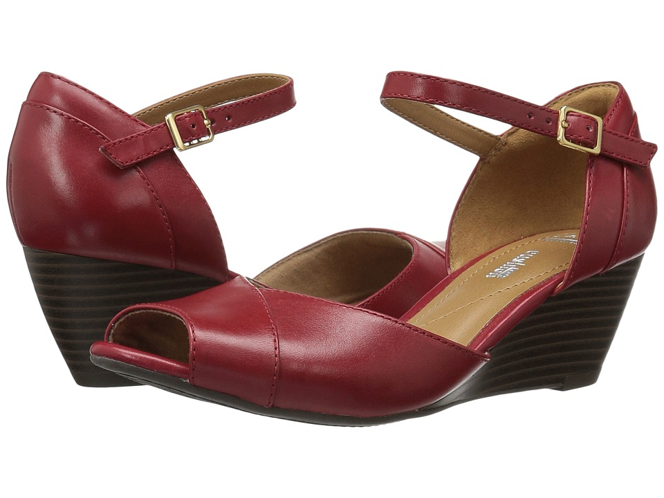 Clarks Brielle Dacy (Red Leather) Women