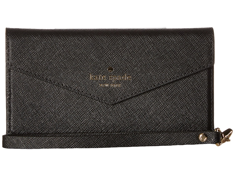 Kate Spade New York - Envelope Wristlet Phone Case for iPhone(r) 7/iPhone(r) 8 (Black) Cell Phone Case