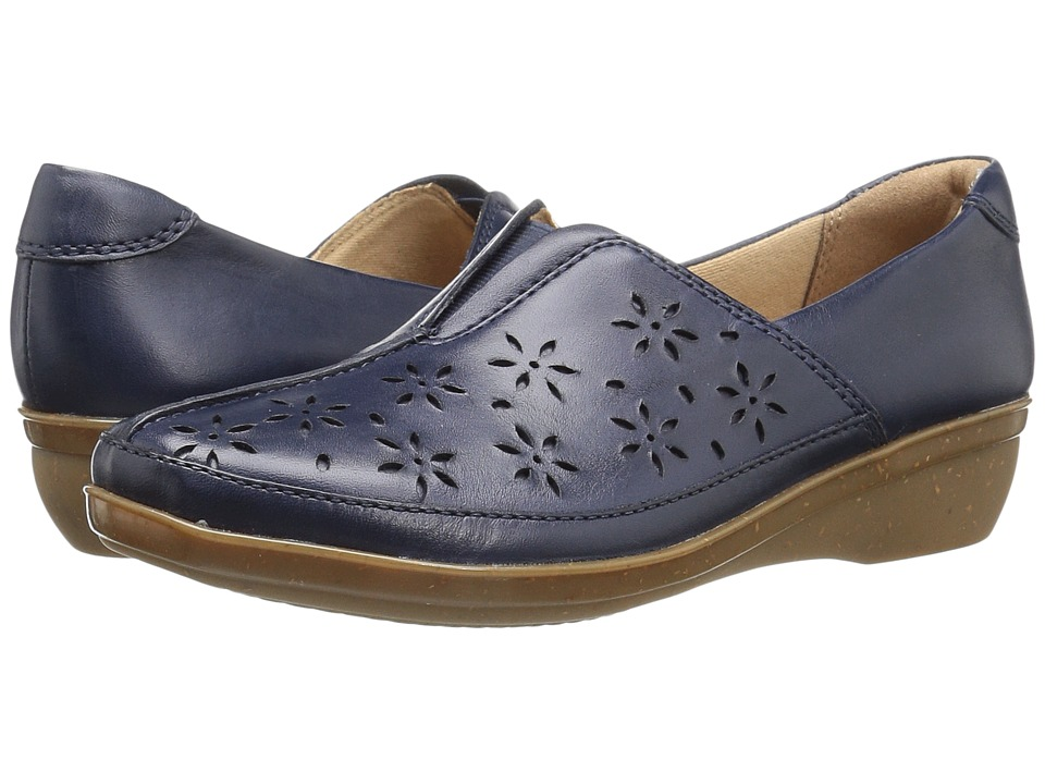 Clarks - Everlay Dairyn (Navy Leather) Womens  Shoes