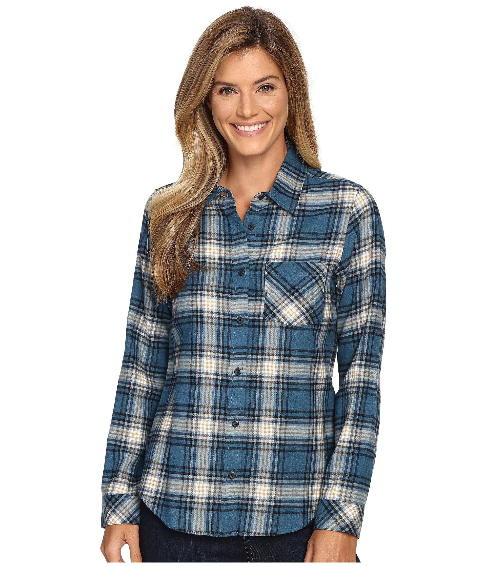 Pendleton frankie flannel shirt night sky heather plaid for Athletic cut flannel shirts