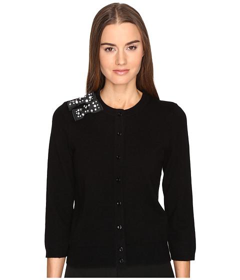 Kate Spade New York Embellished Bow Cardigan - Black