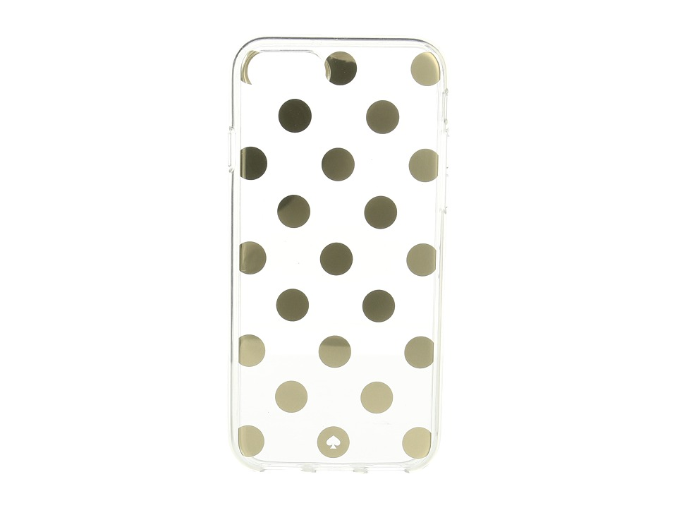Kate Spade New York - Le Pavillion Clear Phone Case for iPhone(r) 7/iPhone(r) 8 (Clear/Gold) Cell Phone Case