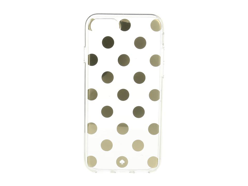 Kate Spade New York - Le Pavillion Clear Phone Case for iPhone(r) 7/iPhone(r) 8 (Clear/Gold) Cell Phone Case