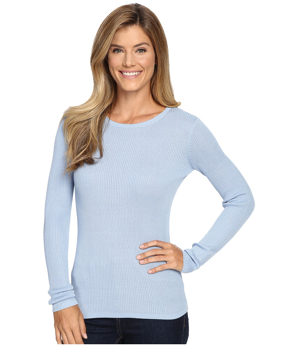 Pendleton - Rib Jewel Neck Pullover (Chambray Blue) Women