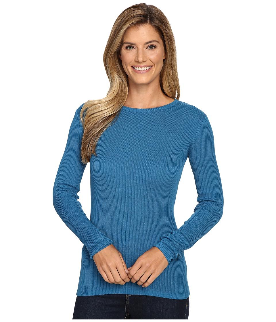 Pendleton - Rib Jewel Neck Pullover (Celestial Blue) Women