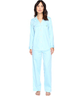 LAUREN Ralph Lauren - Notch Collar Sateen Striped PJ