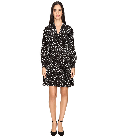 Kate Spade New York Blot Dot V-Neck Dress - French Cream/Black