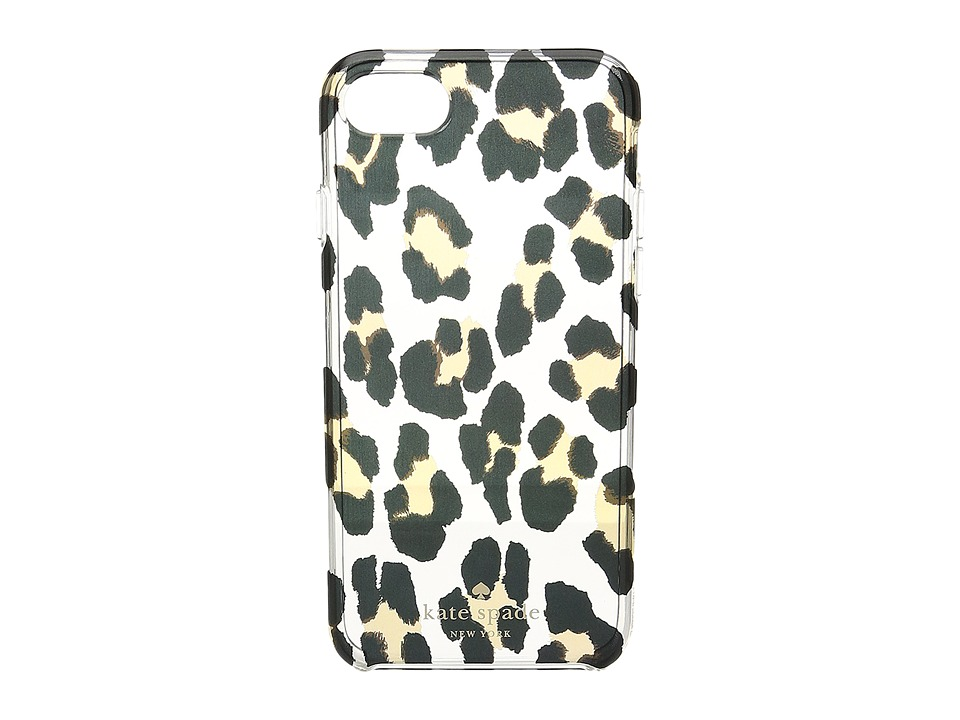 Kate Spade New York Leopard Clear Phone Case for iPhone(r) 7 (Clear Multi) Cell Phone Case