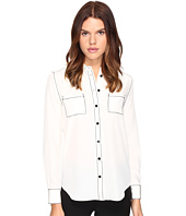 Kate Spade New York - Contrast Stitch Silk Shirt