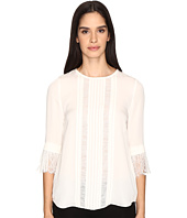 Kate Spade New York - Lace Inset Silk Top