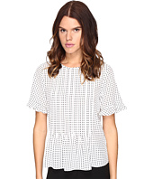 Kate Spade New York - Pin Dot Pintuck Top