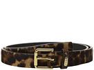 LAUREN Ralph Lauren 1 Haircalf Belt w/ Side Bar Roller Buckle and Logo Keeper Plaque