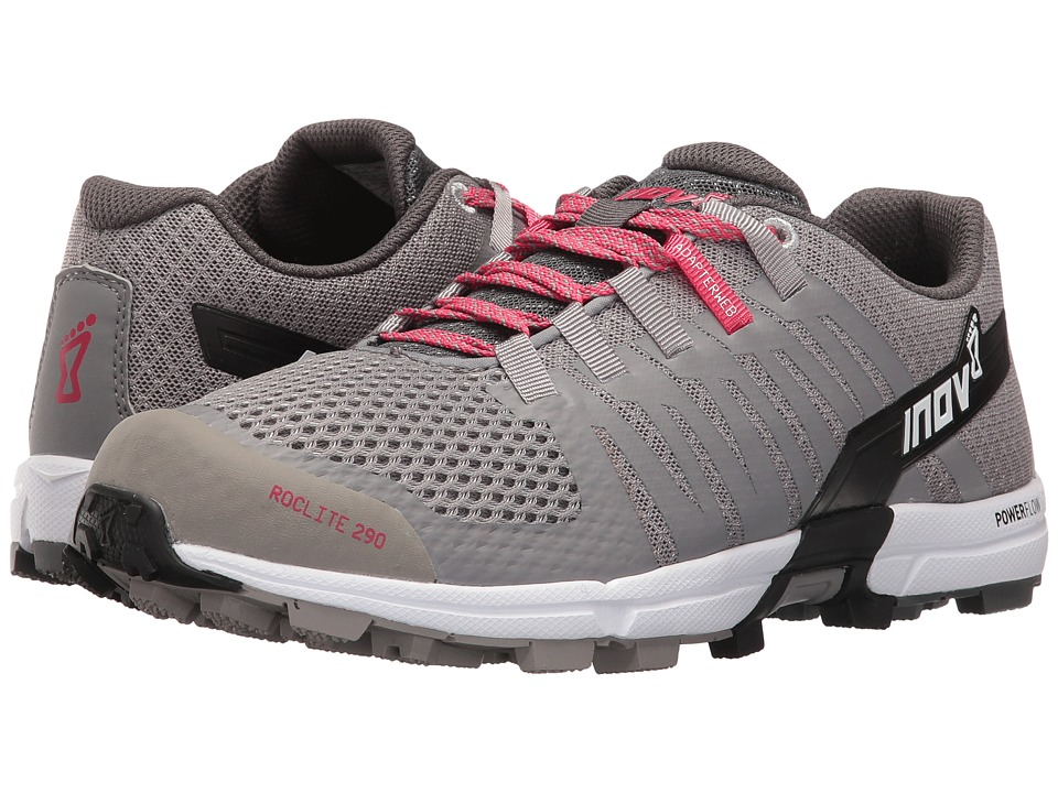 inov-8 - Roclite 290 (Grey/Pink/White) Womens Shoes