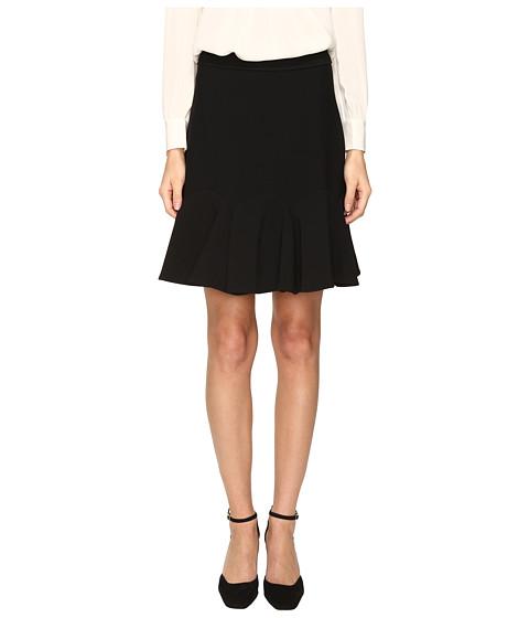 Kate Spade New York Crepe Flounce Skirt - Black