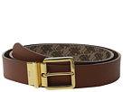 LAUREN Ralph Lauren 1 3/8 Dobson Print/Solid Smooth Reversible Belt with Square Endbar Metal Keeper