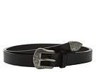 LAUREN Ralph Lauren 1 Western Belt with Metal Tip on Smooth Veg Leather Strap