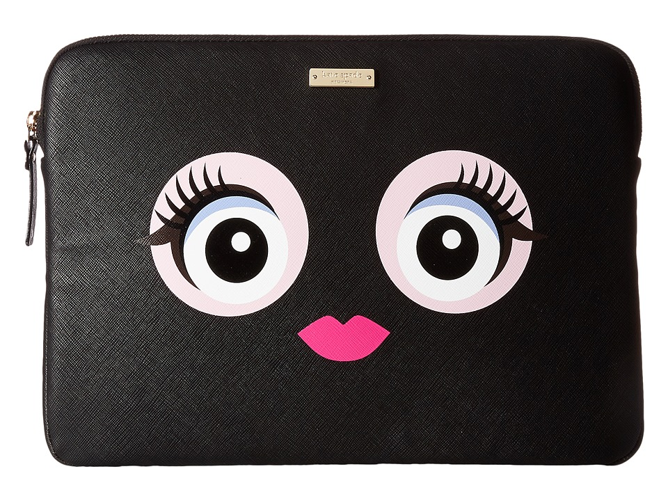 Kate Spade New York 13 Inch Monster Laptop Sleeve Case (Black Multi) Computer Bags