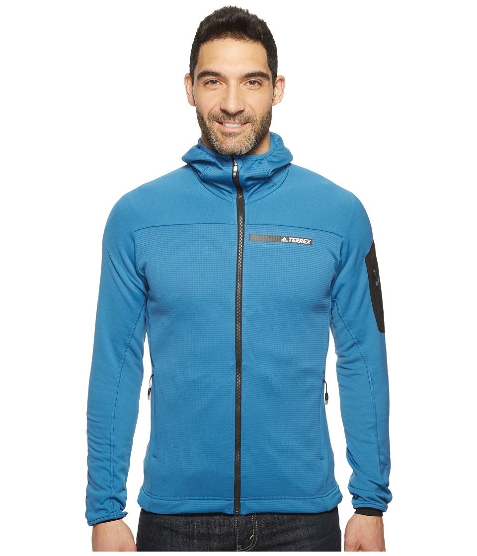 adidas Outdoor Terrex Stockhorn Fleece Hooded Jacket (Core Blue) Men