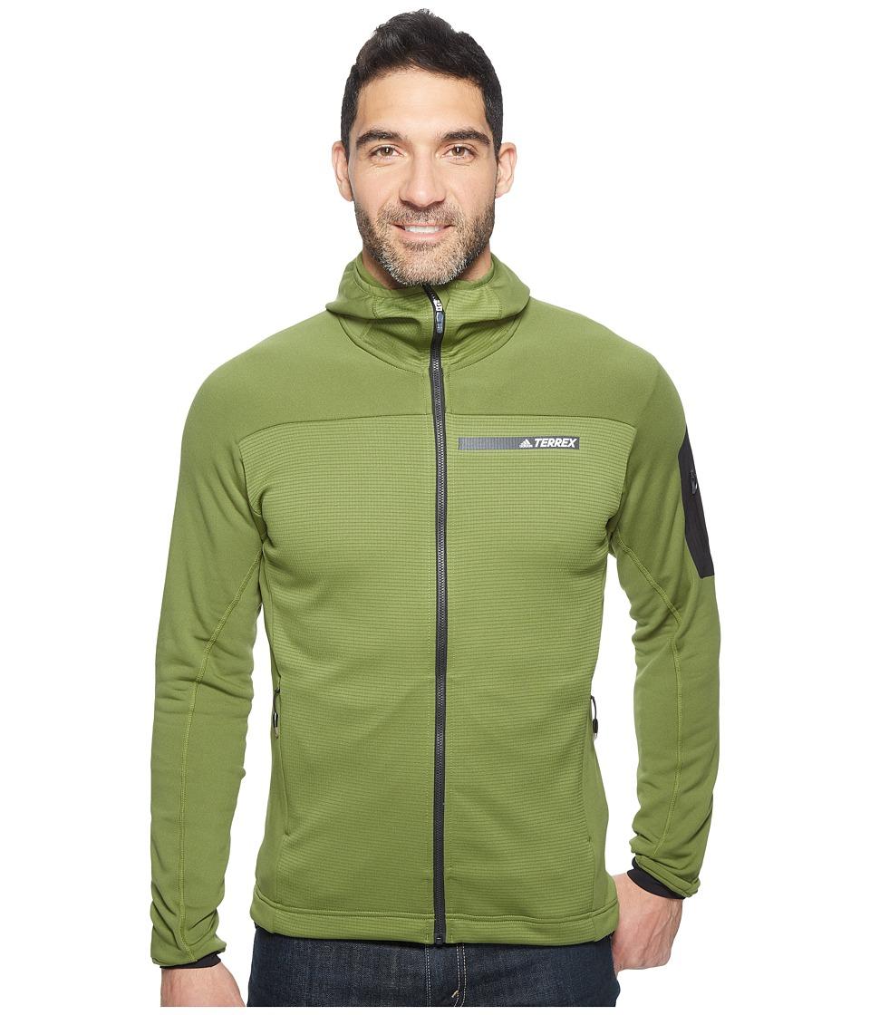 adidas Outdoor Terrex Stockhorn Fleece Hooded Jacket (Craft Green) Men