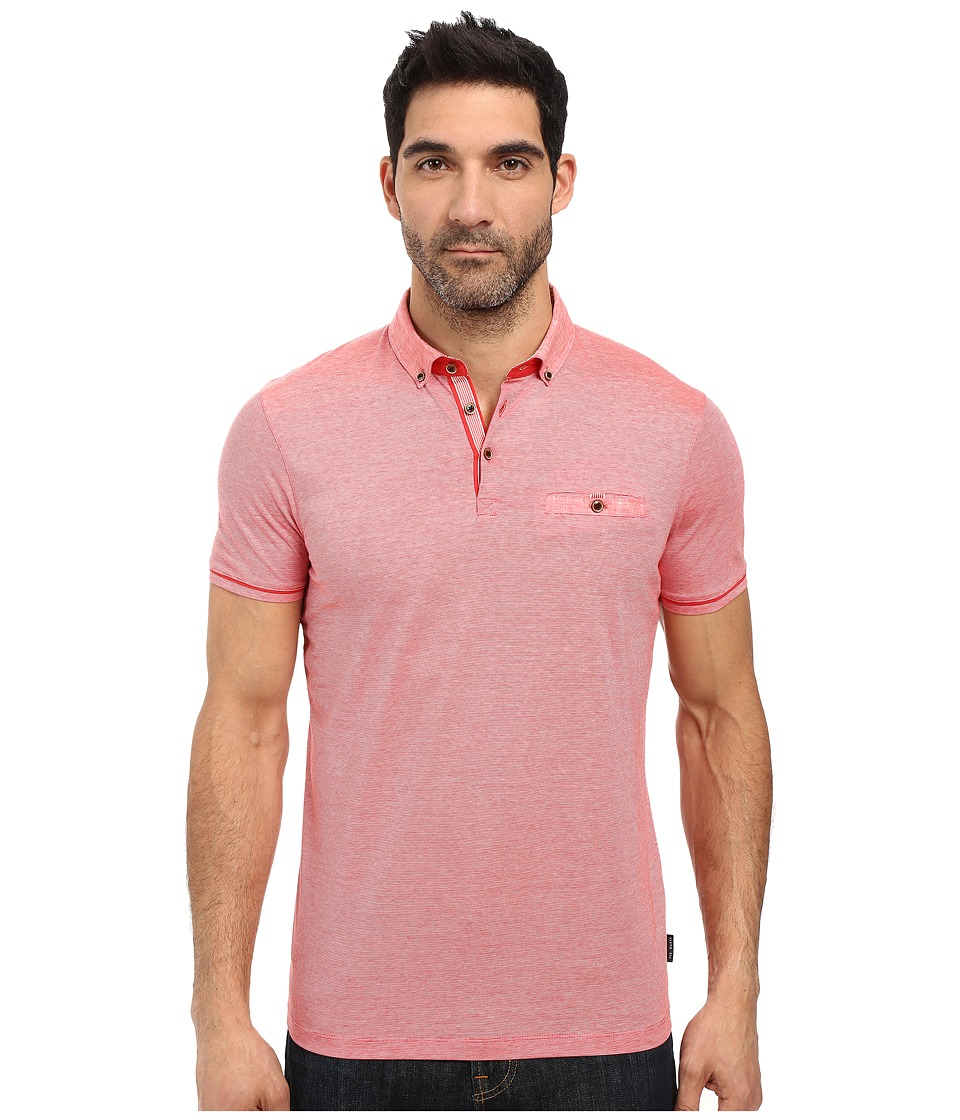 Ted Baker - Trynor Linen Collar Stripe Polo