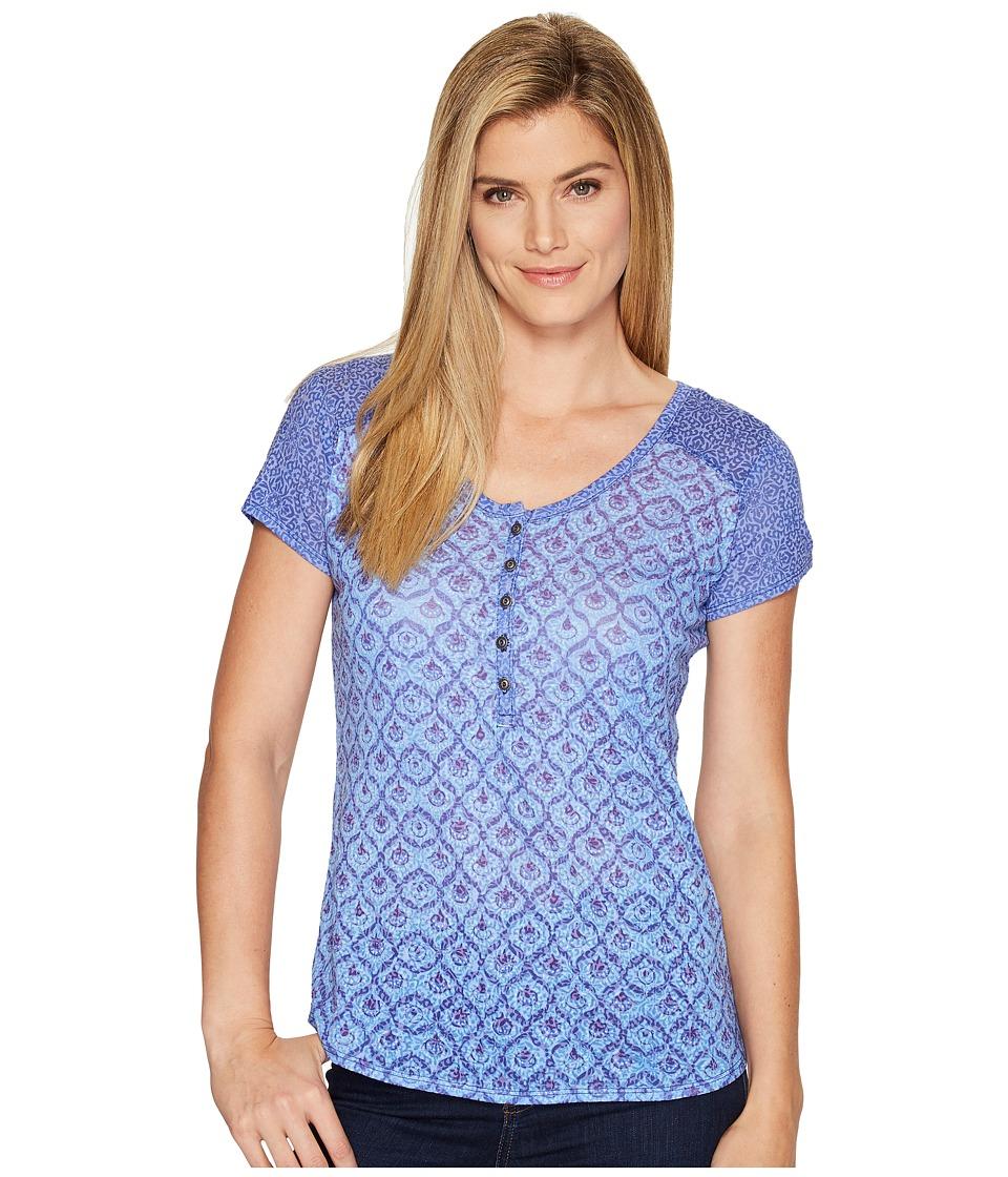 KUHL Kortina Short Sleeve Henley (Vista Blue) Women