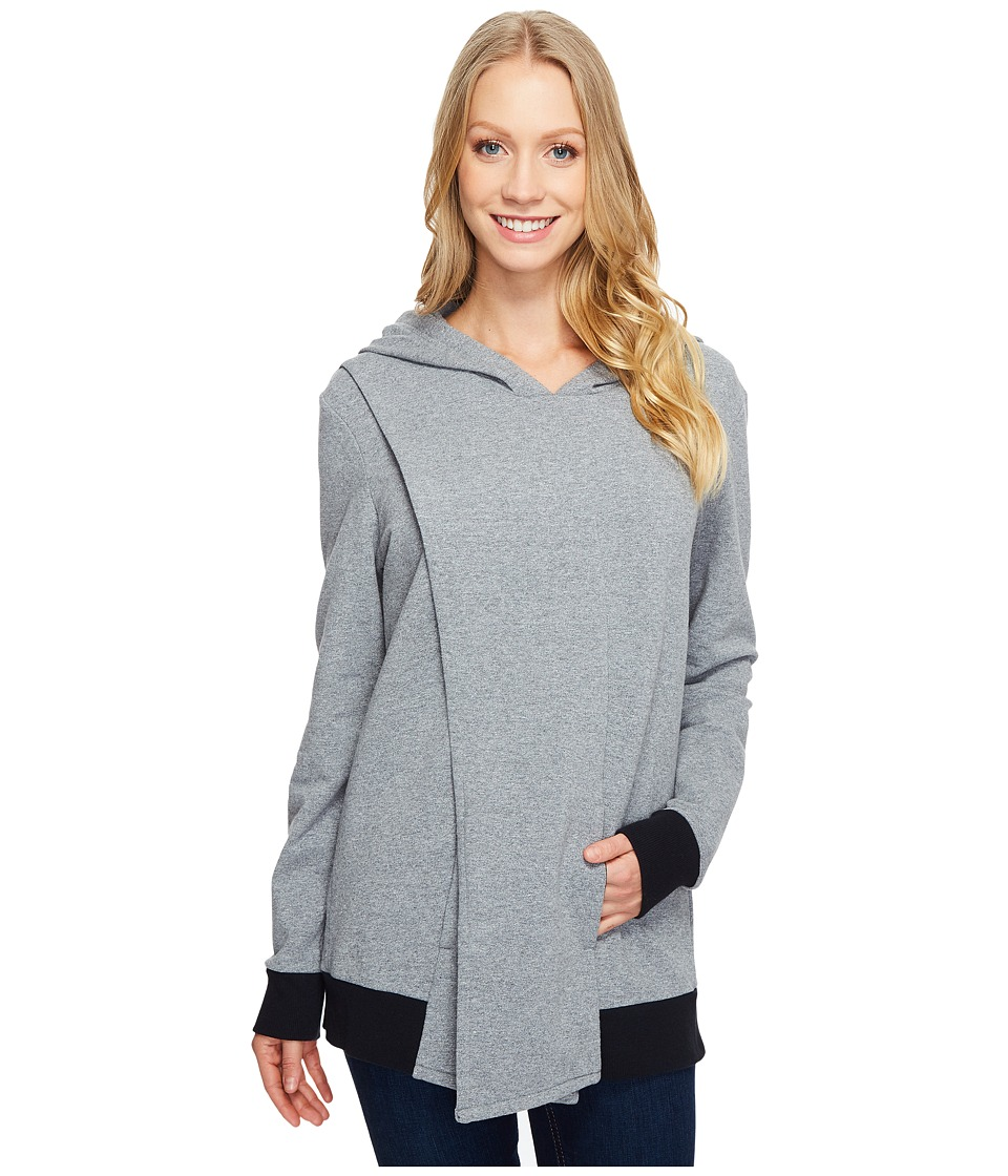 Lucy Keep Calm Pullover Wrap (Silver Filigree Heather) Women