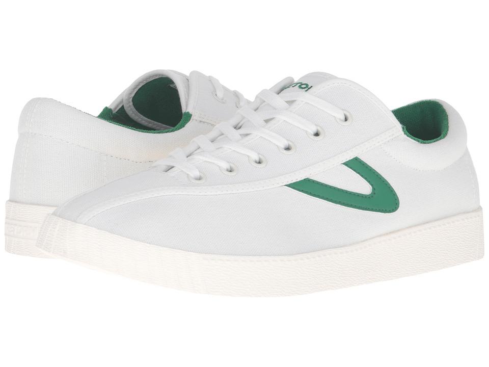 Tretorn Nylite Plus (White/White/Green) Men's Lace up cas...