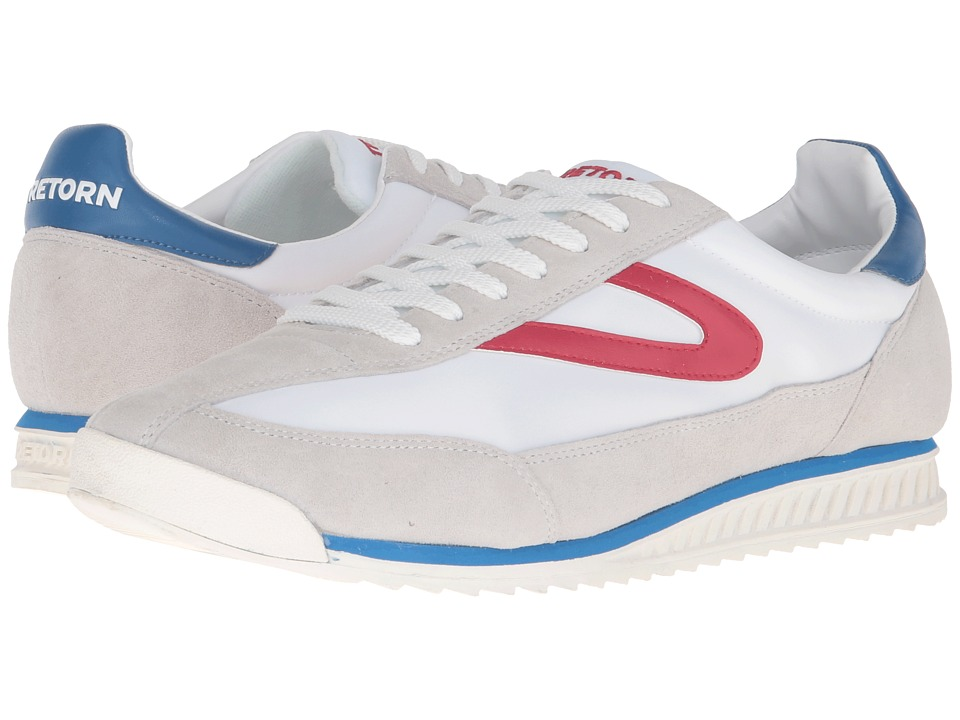 Tretorn - Rawlins 3 (White/Red/Blue) Mens Lace up casual Shoes