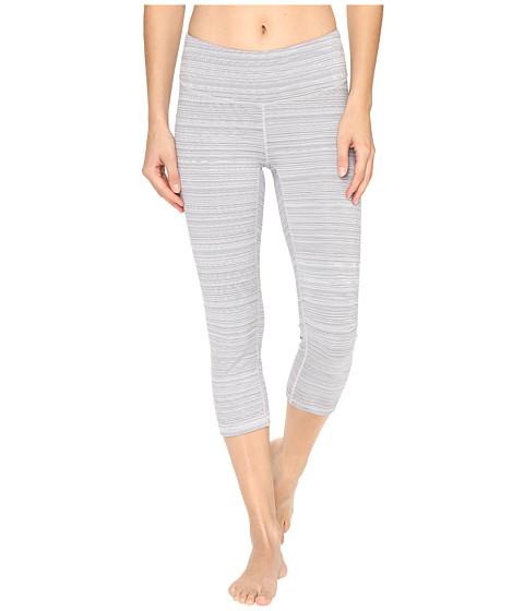 Lucy Studio Hatha Capri Leggings - Silver Filigree Half Tone Stripe