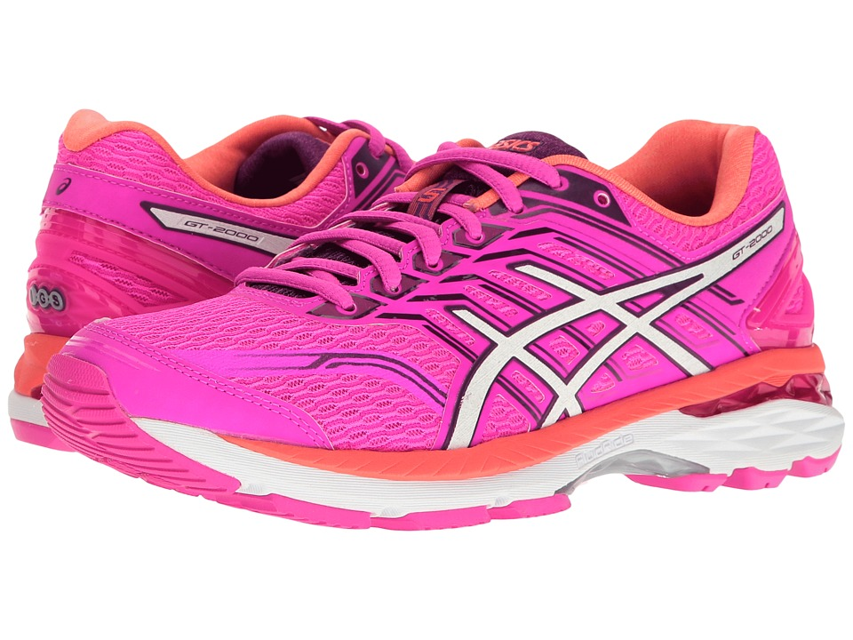 Asics GT-2000 5 (Pink Glow/White/Purple) Women's Running ...
