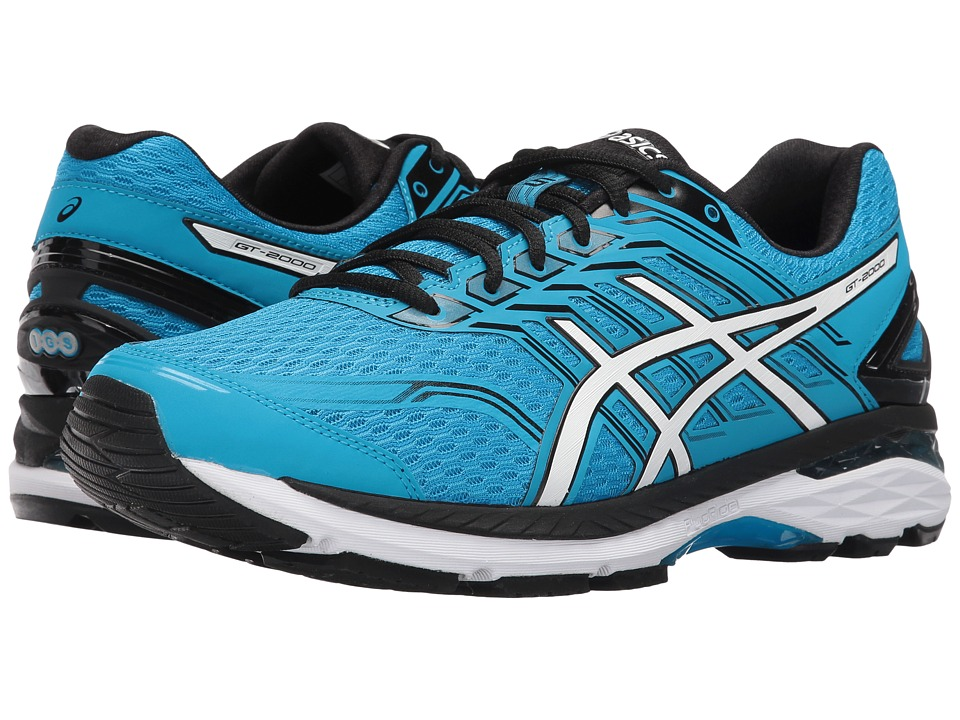 Asics GT-2000 5 (Island Blue/White/Black) Men's Running S...