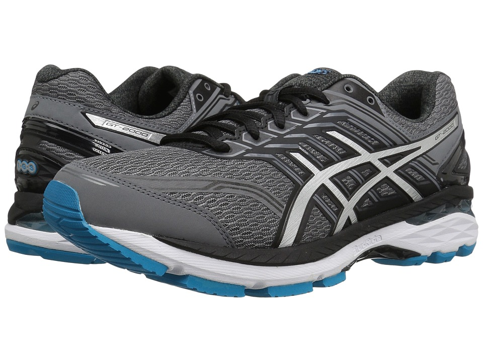 Asics GT-2000 5 (Carbon/Silver/Silver Blue) Men's Running...