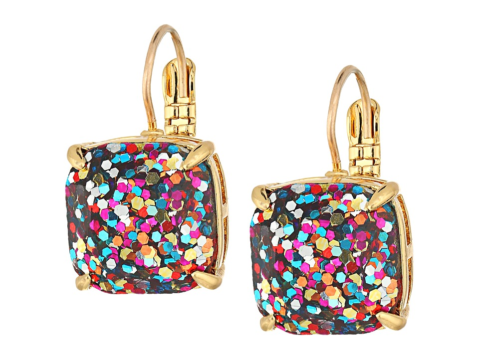 Kate Spade New York - Small Square Leverback Earrings (Multi Glitter) Earring