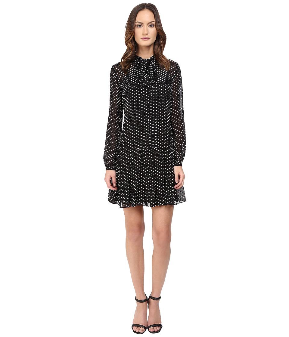 McQ Pintuck Pussybow Dress (Black) Women