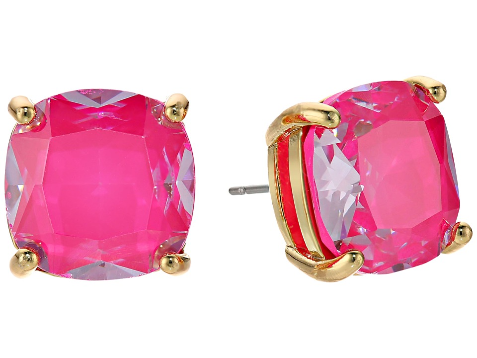 Kate Spade New York - Enamel Small Square Studs (Pink) Ea...