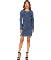 Pierre Balmain - Denim Long Sleeve Dress