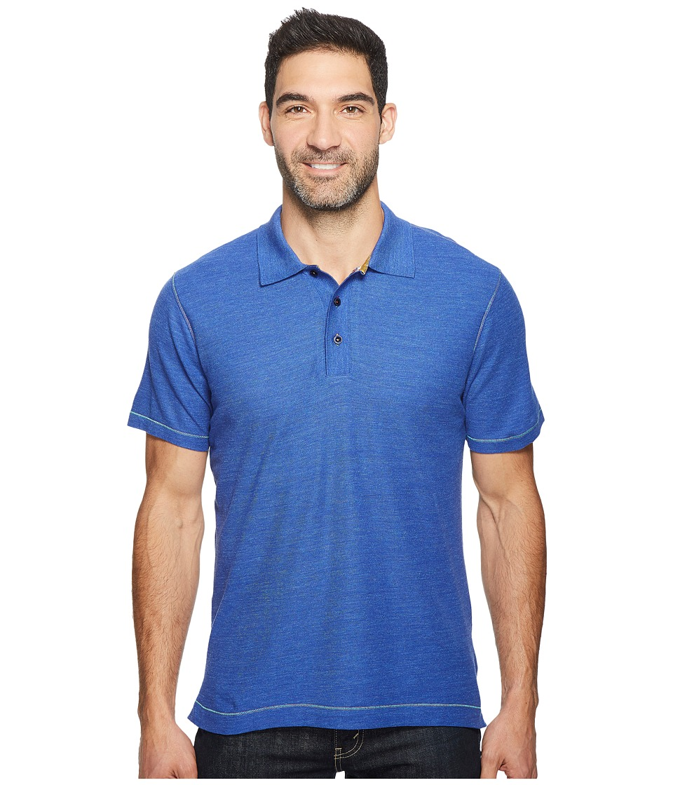 Robert Graham - Messenger Polo (Heather Blue) Mens Short Sleeve Pullover